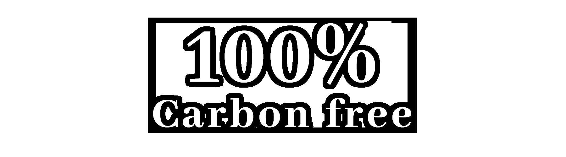 100% Carbon free